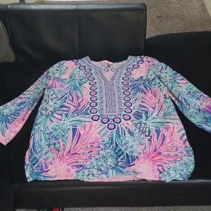 Lilly Pulitzer Silk beaded tunic
